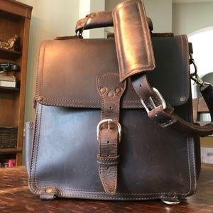 Saddleback leather messenger bag.